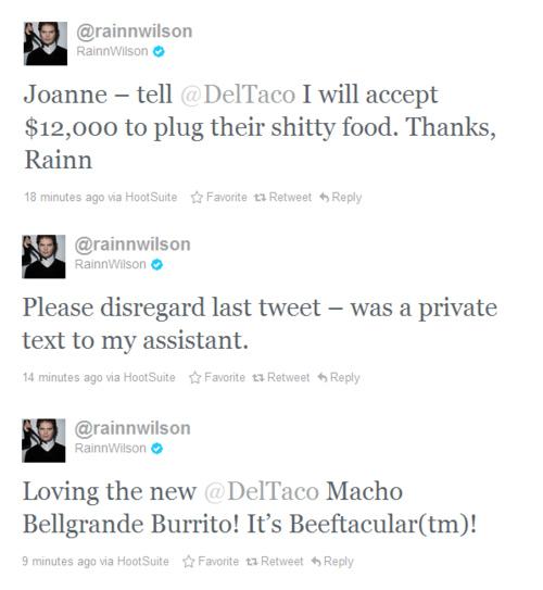 Rainn Wilson Twitter