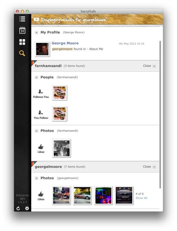 search instagram backups