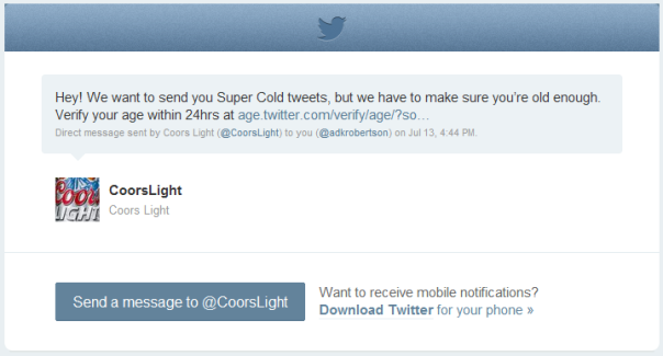 Twitter Age Screening