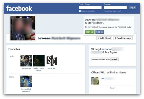 Facebook Malware page