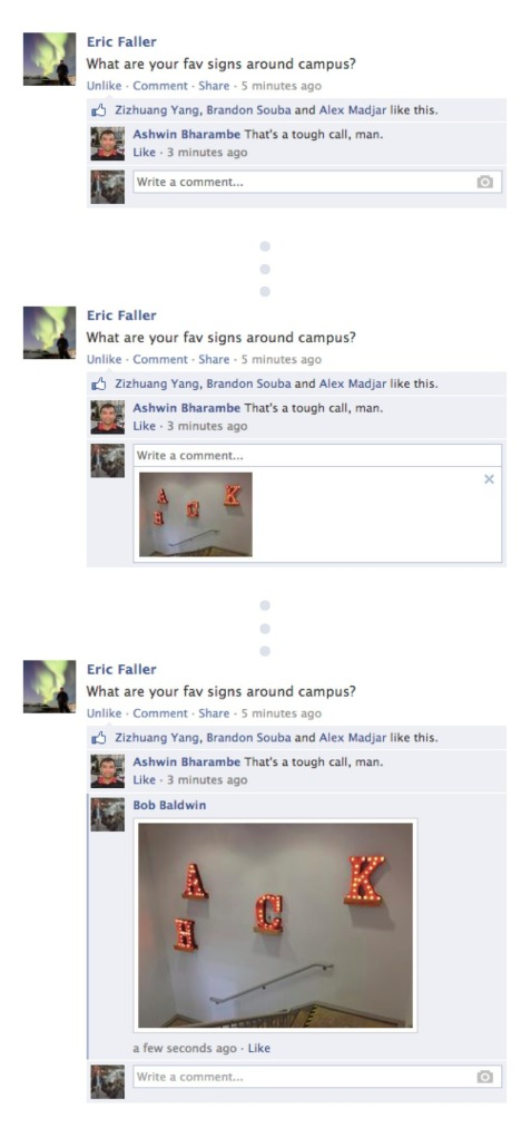 Photo Comments on Facebook Pages