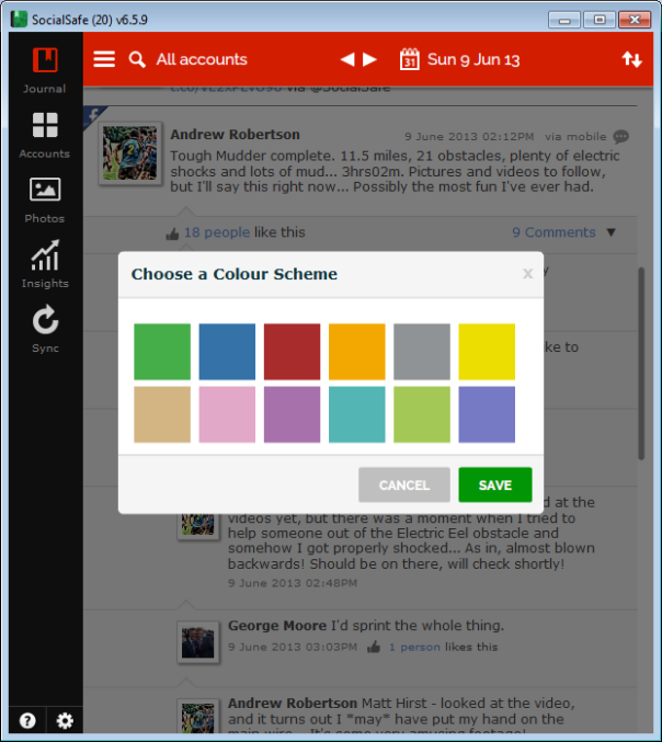 change app colours
