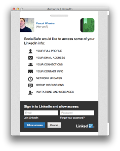 LinkedIn Authorisation