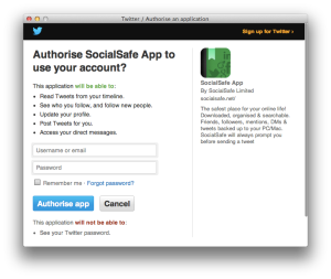 Twitter Authorisation