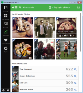 View your most popular photos with SocialSafe Insights