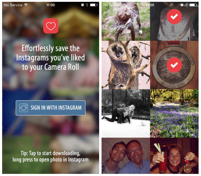 Likes - Effortlessly save the Instagrams you've liked to your Camera Roll