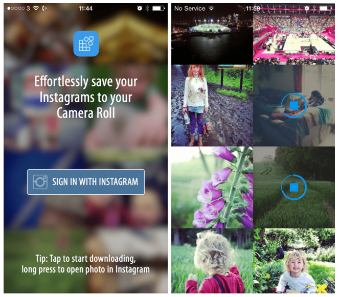 Recover - Effortlessly save your Instagram photos to your Camera Roll